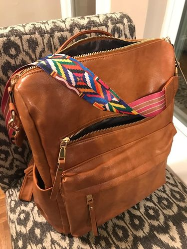Large leather backpack purse | Ralphany